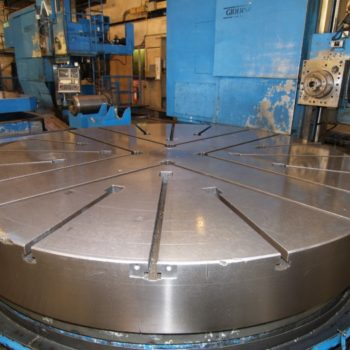 20108-IS Noble & Lund CNC 120 diam Rotary Table w CNC Slide-2